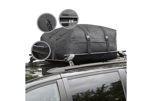 Cargo Roof Bag Water Resistant Car Top Carrier Easy To Install Soft Rooftop Luggage Carriers