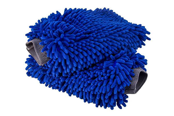 2 Pack Premium Soft Cyclone Microfiber Washing Gloves Machine Washable Blue Emoly New Car Wash Mitt Lint Free Scratch Free Holds Tons of Sudsy Water for Effective Washing